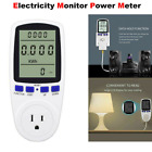 Electricity Usage Monitor Plug Power Watt Voltage Amps Meter Energy Saving 8Mode