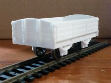 7mm Scale 4ft6 Wheelbase 3 Plank Drop Side Curved End Wagon Kit.
