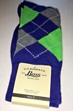 NWT MEN'S G.H. BASS & CO. DRESS SOCKS ARGYLE DIAMOND SIZE 6-12.5 MULTI COLOR