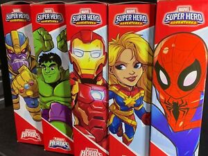 "MARVEL Playskool MEGA MIGHTIES 10"" choose - Hulk, Spider, Iron. Thanos Cptn. COM"