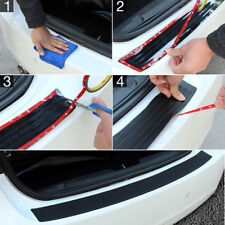 Black Car Rear Bumper Sill/Protector Plate Rubber Cover Guard Pad Moulding Trim