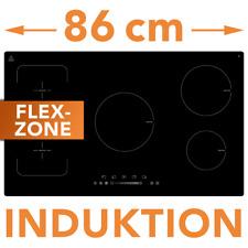 Induktion Kochfeld Flex Zone 86cm Glaskeramik autark Touch Control Booster Timer