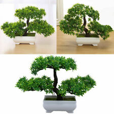 Fake Artificial Bonsai Plants Plastic Mini Tree Flower Pot Ornament Potted Plant