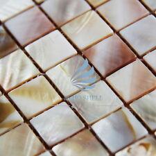 Nacre Mosaïque lit nature pearl shell mosaïque carré nature
