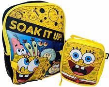 Spongebob Boys Girls School Backpack Book bag Insulated Lunch Box Kids Toy Gift