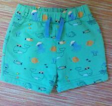 Blue zoo 'underwater' design baby shorts 3-6 months