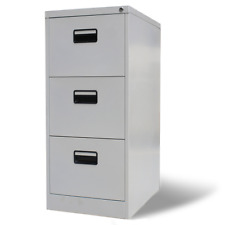 103cm Home Office Metal Filing Cabinet 3 Drawer Documents File Storage Organiser