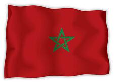 Marocco Morocco Marokko bandiera etichetta flag sticker 15cm x 11cm