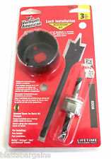 VERMONT AMERICAN BY BOSCH WOOD DOOR LOCK INSTALLATION KIT 18381 HOLE SAW KNOB