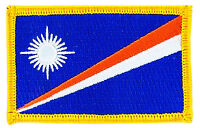 FLAG PATCH PATCHES Marshall Islands   IRON ON COUNTRY EMBROIDERED SMALL