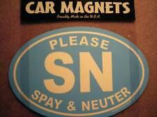 "CAR MAGNET ""SAVE LIVES SPAY & NEUTER""  light blue/white"