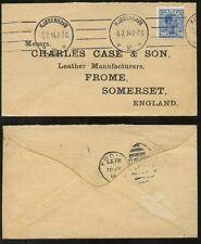 La Danimarca 1914 Busta Charles caso FROME... ritardo dell' uso di GB 306 Duplex all' arrivo