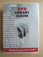 Media case for 5 discs- hard clear plastic BNIP