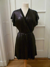 NWT: BANANA REPUBLIC MONOGRAM Black Sequin Dress, 8