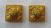 "Mess Dress Gold Pips, Stars, Officers, Army, Military, 7/8"", Embroidered, Pair"