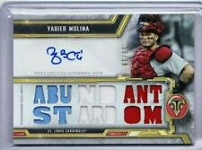 2020 TOPPS TRIPLE THREADS YADIER MOLINA JERSEY AUTO SSP 13/18 CARDINALS PD