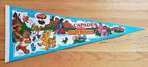 Teddy Ruxpin Ice Capades vintage pennant 1980's