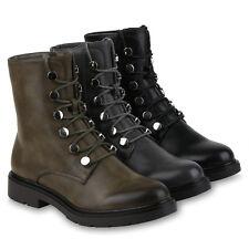 Damen Stiefeletten Gefütterte Schnürstiefeletten 823553 Schuhe