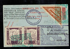 1932 Paraguay Graf Zeppelin Postcard Cover to Herman Sieger Lorch Germany LZ 127