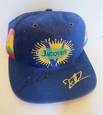 JACQUES VILLENEUVE  AUTOGRAPHED  HAT-CAP INDY 500 FI