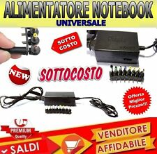 ALIMENTATORE UNIVERSALE PER NOTEBOOK PC 120W HP SONY ASUS ACER TOSHIBA COMPAQ