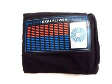 Retro Style Stereo Equalizer DJ Rave T-Shirt BLACK Men's L