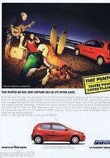 PUBLICITE ADVERTISING 115 2001 Fiat Punto automobile