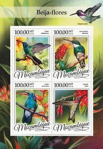 HUMMINGBIRDS (Beija-Flores) Bird Mint MNH Stamp Sheet M/S (2016 Mozambique)