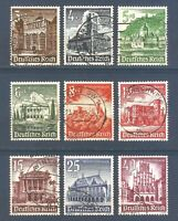 DR Nazi 3rd Reich Rare WW2 Stamp Castle Tower Church Residence Palace Winter Aid