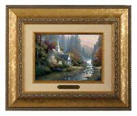 Thomas Kinkade Forest Chapel Framed Brushwork (Gold Frame)