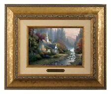 Thomas Kinkade Forest Chapel 5 x 7 Framed Brushwork (Gold Frame)