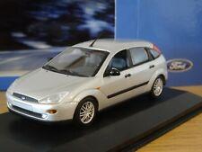 MINICHAMPS FORD FOCUS MK1 SILVER 2002 5 DOOR CAR MODEL 433 087023 1:43