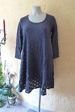 BORIS INDUSTRIES Tüll Kleid 44 46 48 (2 NEU grau A-Form Stretch Kreise LAGENLOOK