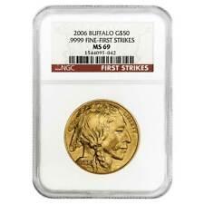 2006 $50 American Gold Buffalo 1 oz NGC MS69 FS