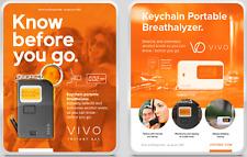 Vivo Instant Bac Blood Alcohol Level Digital Keychain Breathalyzer
