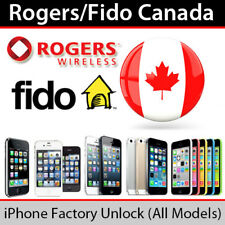 Rogers Fido Official Factory unlock  iPhone 4/S/5/S/5C/SE/6/S/7/7+/8/8+ X