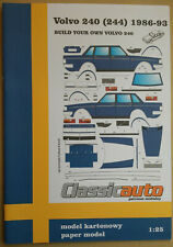 Volvo 240 Sedan (244) paper model 1:25 | Volvo 240 sedan (244) model papierowy