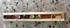 Anson Multi Colored Crystal Studded Gold Tone Tie Pin Clasp