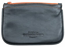 4th Generation Kenzo Black Italian Quality Leather Zipper Tobacco Pouch - 7955