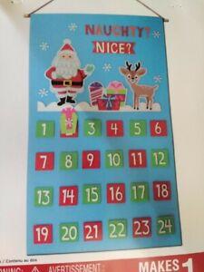 set of 2 Creatology Christmas Advent Calender Kit Holiday DIY Home Decor NEW