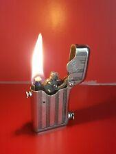 Ancien briquet essence automatic THORENS Gousset Old Petrol Lighter plaque taxe