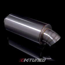"K-Tuned Turndown (Dolphin Tail) Tip Universal Stainless Steel Muffler 2.5"" Inlet"