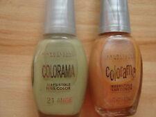 4 X Maybelline Colorama irrestable Nail Color (2 X Anís & 2 X 7.5 Ml palomitas de maíz)