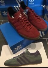 Adidas Originals Jeans UK 11.5 Burgundy Rouge CW Super Deadstock Munchen Mark 2