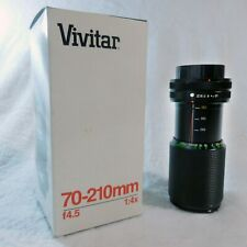 Vivitar 70-210mm f4.5 MC Macro Focusing Zoom Lens Both Caps Canon 1:4x 52mm