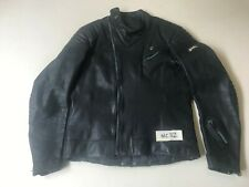 POLO Mens Vintage Leather Motor Bike Jacket in Blue size 54 (mc32)