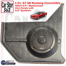 "Custom Autosound KMCV-2-PIO Kick Panels&6.5"" Speakers 67-68 Mustang Convertible"