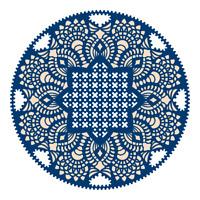 Nuevo jirones de Encaje Tapete Cupcake Círculo Die-D196-libre de Reino Unido P/&p