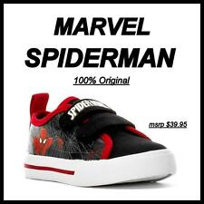 BRAND NEW 100% ORIGINAL MARVEL SPIDERMAN (2 Strap) Toddler Shoes size 5 Free S&H