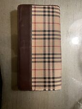 Burberry London Nova Check Long Folding Wallet Clutch Leather Continental Wallet